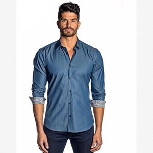 NWT Jared Lang After Hours Slim Fit Button Shirt